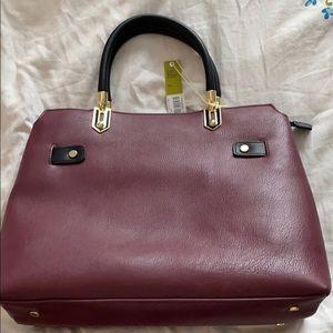 NWT Gianni Bini deep wine color purse many pockets